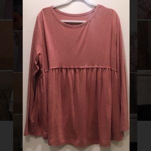 Blush Pink Babydoll Shirt